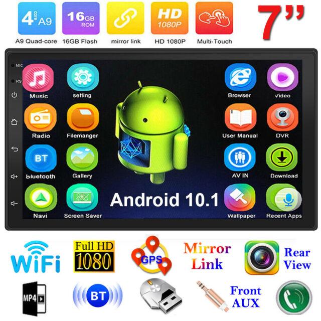 Android 10.1 AUTORADIO mit Navigation NAVI BLUETOOTH USB GPS 2 doppel DIN Kamera