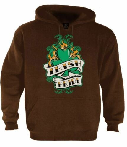 Irish Pride Hoodie For St.Patricks Day Patty/'s Gift Drinking Beer Pub Pullover