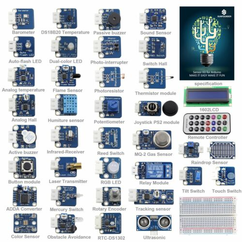 SunFounder New 37 modules Arduino Sensor Kit V2.0 for Arduino UNO R3 Mega  Nano