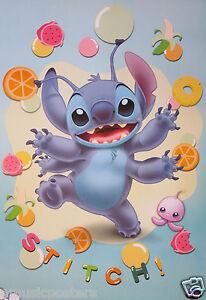 Disney Stitch With Fruit Candy Poster Lilo Stitch