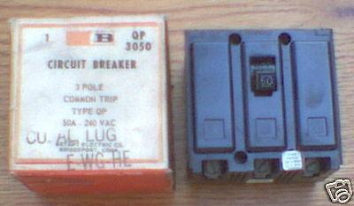 NEW Bryant 50 AMP 3 POLE QP3050 HQNP3050 QP Circuit Breaker