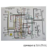 Full Color Wiring Diagram, Porsche Late 1957-1959 356a(t2)