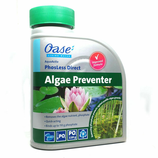 Oase AquaActiv seguro y cuidado Algas Estanque control Dechlorinator tratamiento 500ml