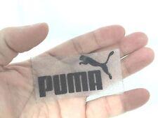 BLACK PUMA IRON ON/ HEAT PRESS SPORTS LOGO DIY T-SHIRT CLOTHING POLO 6X3 CM