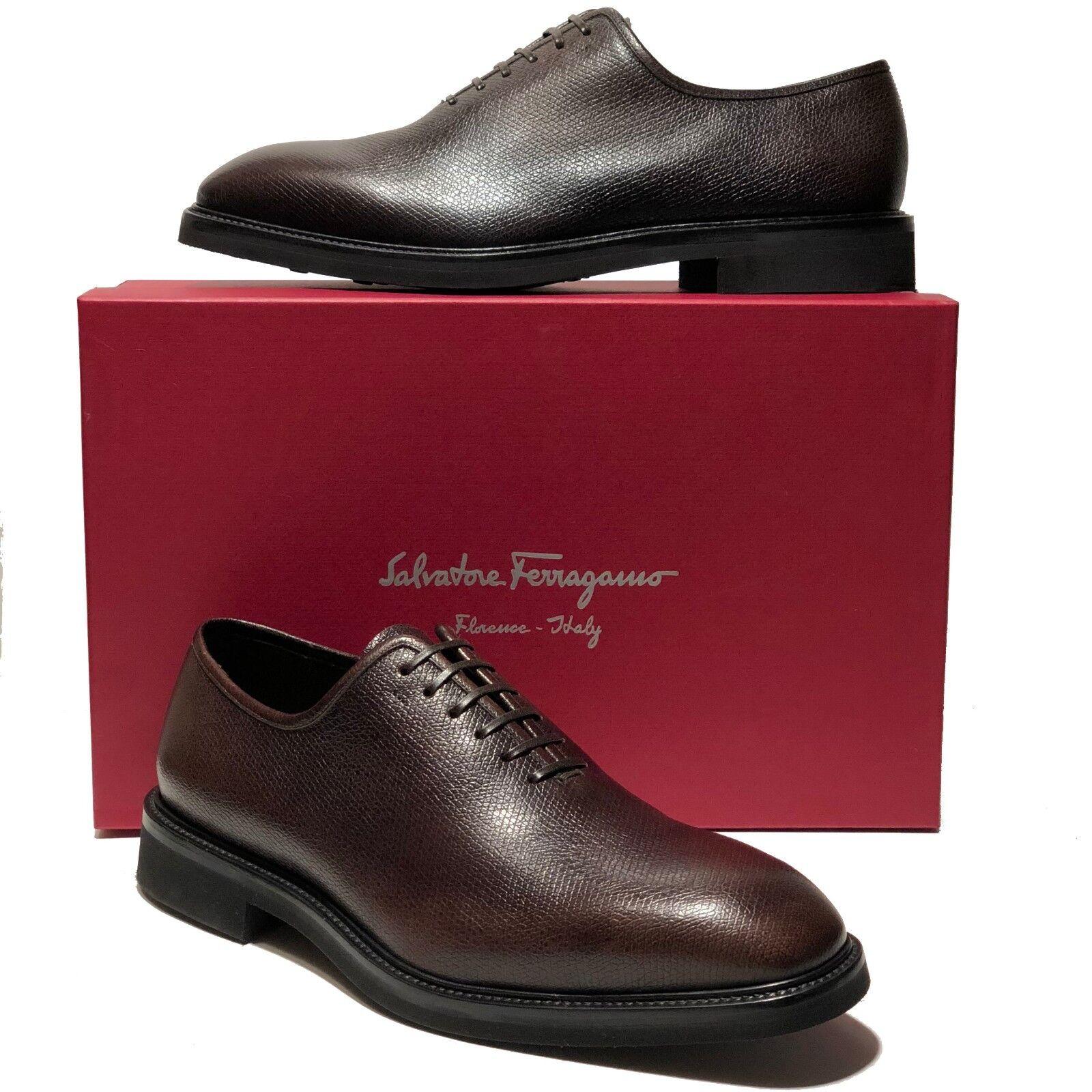 100% di contro garanzia genuina Ferragamo Marrone Marrone Marrone Pebbled Leather FILOSOFO Oxford Uomo Derby Dress scarpe Casual  vendita online