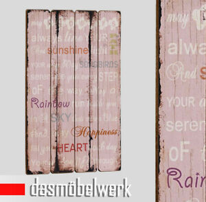 landhaus plankenschild wand paneel tafeln vintage holz schilder spruch ebay. Black Bedroom Furniture Sets. Home Design Ideas