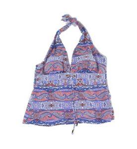 Coastal Blue Womens Swimwear Blue Size Large L Tankini Top Printed $40 072