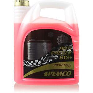 Pemco-1x5Liter-Anticongelante-Fresco-Tipo-G12-Refrigerante-912-Rojo-PM0912-5