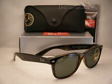 Ray Ban 2132 New Wayfarer Tortoise w Green Crystal (G-15) Lens (RB2132 902L 55)