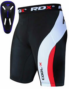 RDX Fitness Pantaloncini Compressione Shorts Base Running Jogging Con Conchiglia