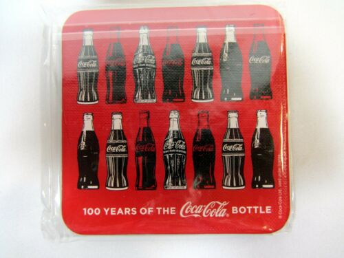 Coca-Cola Cork Coasters 100 Years of the Coca-Cola Bottle 6 New Sealed Two Packs