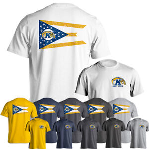 purchase cheap f7f3d 1119c Details about Kent State University Golden Flashes State Flag Logo Tee  Short Sleeve T-Shirt