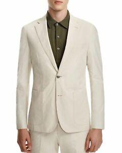 695-Hardy-Amies-Mens-Cotton-Sport-Coat-Jacket-EU-50R-US-40R-Bone-Ivory