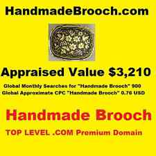 HandmadeBrooch.com - Top Level Premium Domain- Handmade Brooch Google PageRank 1