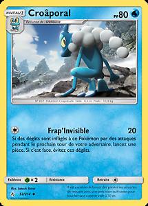 Pokemon Reverse VF Français Croâporal SL10-52//214