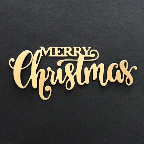 Merry Christmas Design Metal Cutting Dies For Scrapbooking Card Paper Album RDR