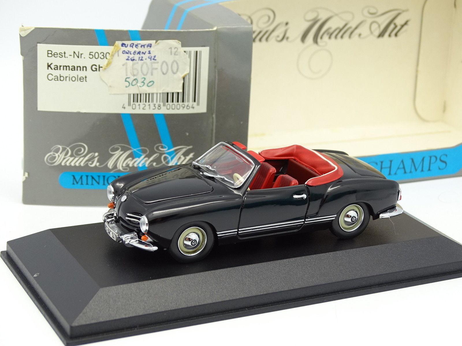 Minichamps 1 43 - VW Karmann Ghia Cabriolet Noire