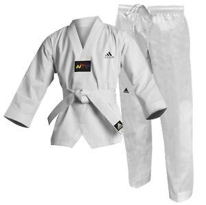 Adidas-Adulto-Estudiante-Taekwondo-WTF-UNIFORME-traje-Dobok-GI-nino-NINA