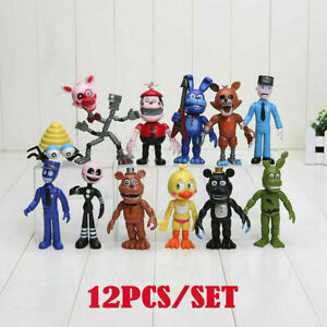 12X Five Nights at Freddy's FNAF Action Figures Doll Games Toy Set Gift Hot