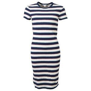 c332b173d28 JAMES PERSE T-Shirt Kleid gestreift BLAU CREME BAUMWOLLE GR. XL  NEU ...