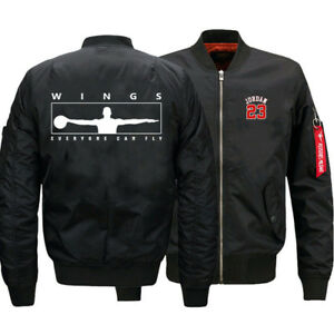 Мужская плотная куртка Майкл Джордан крылья MA1 полета бомбардировщика куртка бейсбол верхняя одежда