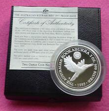 1995  KOOKABURRA  1927 FLORIN PRIVY TWO DOLLAR SILVER 2oz PROOF COIN BOX AND COA