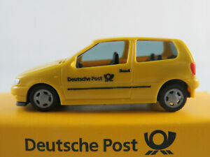 AMW-Post-VW-Polo-III-1994-1997-034-Deutsche-Post-034-in-gelb-1-87-H0-NEU-OVP