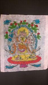 Stampa Divinita' Indiana Other Asian Antiques Carta Di Riso 31x29 Cm 1 Bellissima