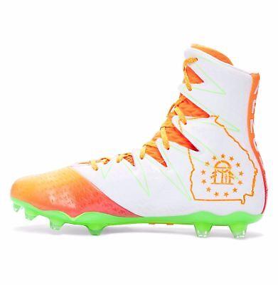 1275479-811 Under Armour Highlight MC LE Georgia Football Cleats Orange SZ