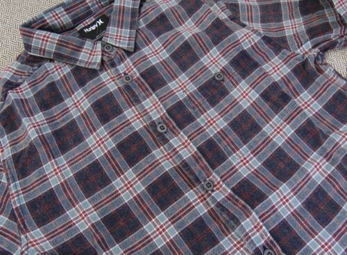 New Hurley Ranger Button-Down L//S Flannel Shirt RHRL-201 BOYS