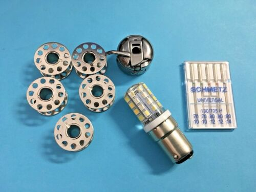 Bobines capsule bobines AEG Singer aiguille-DEL Lampe Pfaff Machines à coudre Accessoires