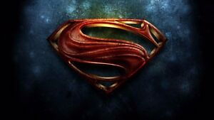 Super-Man-Vintage-Man-of-Steel-Logo-SIZES-A4-to-A0-UK-SELLER-E238