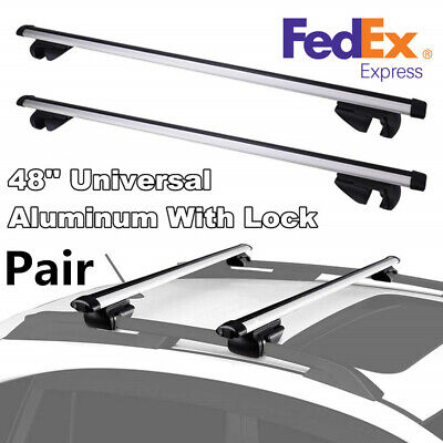 """Roof Rack Cross Bar 48/"""" Top Rail Mount Luggage Holder Cargo Carrier For Cadillac"""