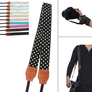 Fashion-Camera-Shoulder-Neck-Belt-Cotton-Strap-For-SLR-DSLR-Canon-Nikon-Sony-NEW