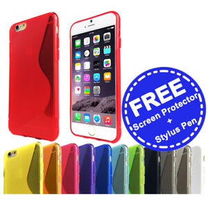 Slim-Soft-Gel-Case-Tough-Silicone-Cover-for-Apple-iPhone-5-5c-SE-6-6s-7-Plus-8-X
