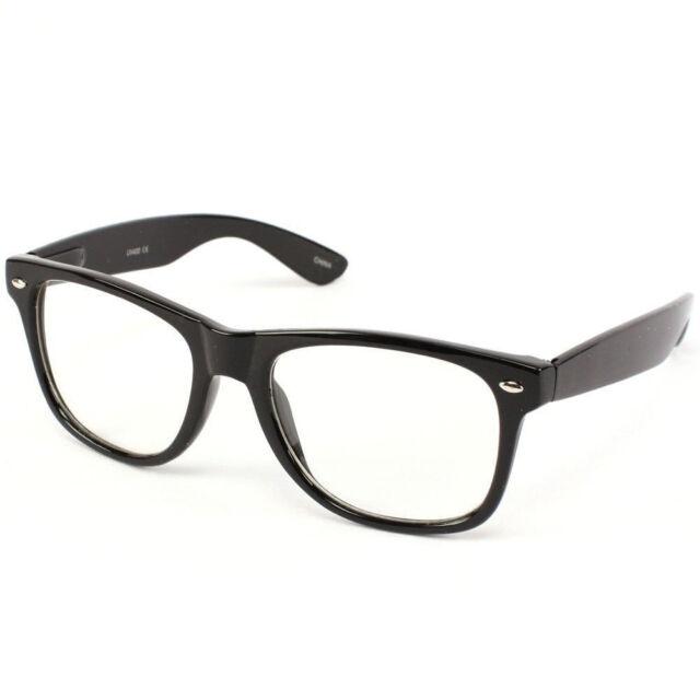 94739cd44bbf Nerd Geek Retro Clark Kent Clear Lens Buddy Eye Glasses Black Frame ...