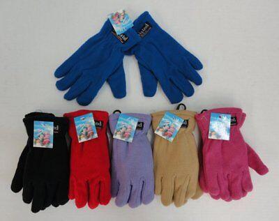48 Pairs Childrens Kids Fleece Gloves Thermal Insulated Winter Fleece Glove Lot