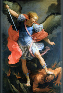 Nice-Oil-painting-Angels-and-demons-One-of-the-four-angels-canvas-36-034