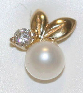 Image Is Loading 114k Yellow Gold Aaa White Pearl Stud Earrings