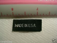 "50 Care Black Woven ""Made in USA"" Tags, Labels for Sewing into your Clothing"