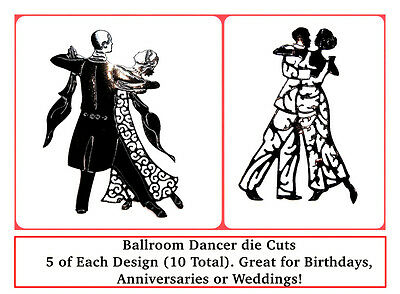 5 of Each Valentine Dancing//Ballroom//Strictly Die Cuts Any card! Wedding