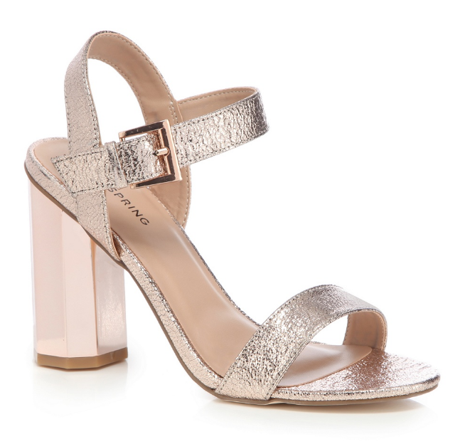 Call It Spring Rose Gold BURGERSDORP Ankle Strap Sandales UK 8 8 UK EU 41 LG07 37 49c0b6