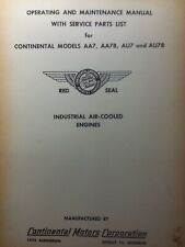 Continental Au7 Aa7 Engine Operator Parts Amp Repair Manual Garden Tractor Sears