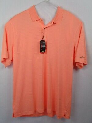 Men's Clothing Greg Norman Play Dry Polo Men's Size Xl Nwt Creamsicle Orange Profit Small Casual Button-down Shirts
