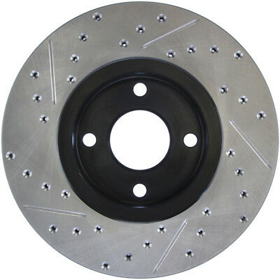 Front Left 1 Pack StopTech 127.61056L Sport Drilled//Slotted Brake Rotor