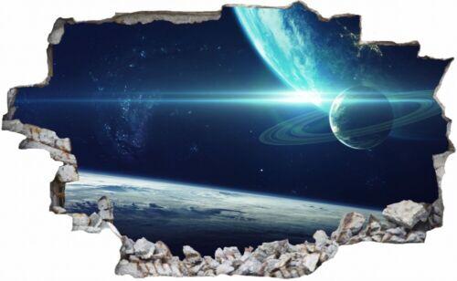 Planet Sterne Weltall Galaxie Sterne Wandtattoo Wandsticker Wandaufkleber C2442