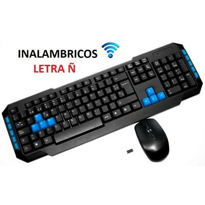 TECLADO Y RATON INALAMBRICO PARA ORDENADOR ** CON Ñ ** WIRELESS NUMERICO PC