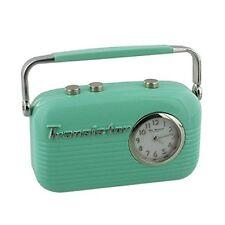 Wm Widdop Miniatur-uhr 50s - Vintage Transistor Radio in Grün