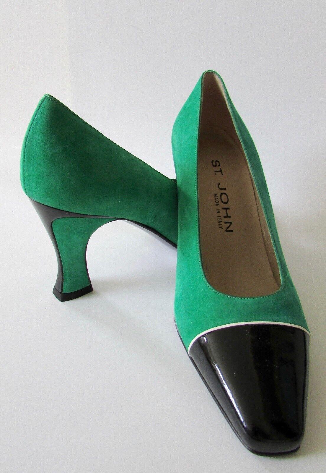Nuevo St. John Italia bombas de puntera puntera puntera de patentes ante verde Talla 6.5  marcas de moda