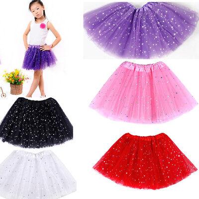 Party Costume Ballet Dancewear Princess Dressup Bling Sequin Tulle Tutu Skirts